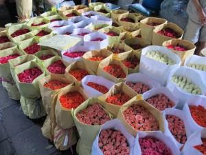 Marché aux fleurs Bangkok - Flowers market