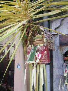 Offering for penjor
