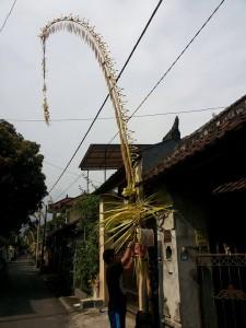 Penjor in Eka street
