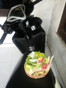Offering for Eka's bike